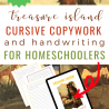 Printable Copywork from Treasure Island. #freeprintablecopywork #cursivewritingcopywork #freecursivewritingpages #freehomeschooldeals #fhdhomeschoolers