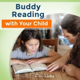 mom and child partner reading