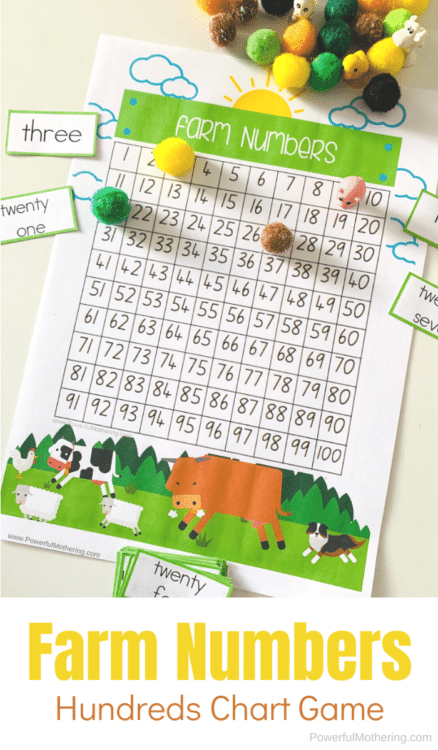 Hundreds Chart and Game Printable. #freehundredschart #freemathgames #printablehundredschart #freehomeschooldeals #fhdhomeschoolers