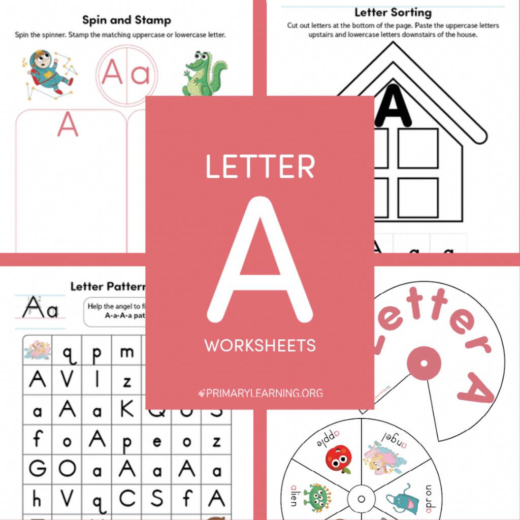 Letter A Worksheets. #freehomeschooldeals #fhdhomeschoolers #letteraworksheets #letteraprintables