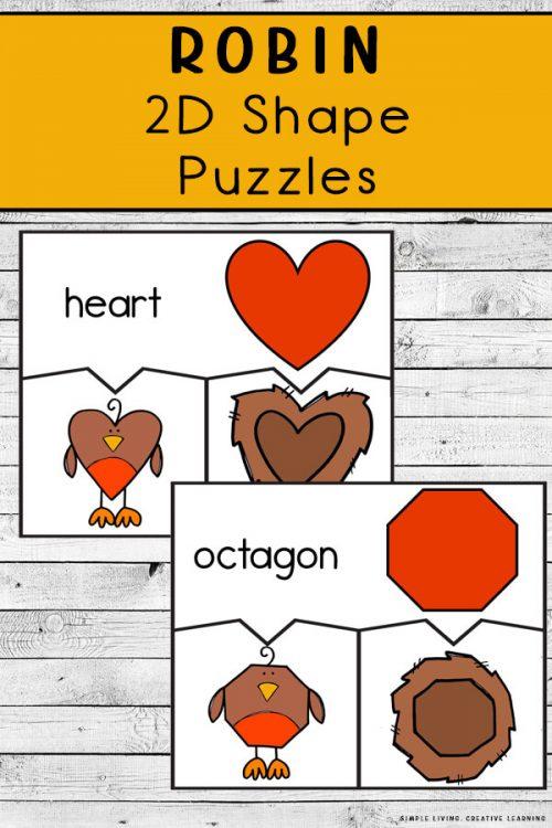 Preschool Shape Puzzles. #freepreschoolpuzzles #preschoolshapes #freeshapepuzzles #freehomeschooldeals #fhdhomeschoolers