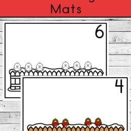 Cute Bird Counting Mats. #freecountingmats #preschoolcountingmats #preschoolactivities #freehomeschooldeals #fhdhomeschoolers