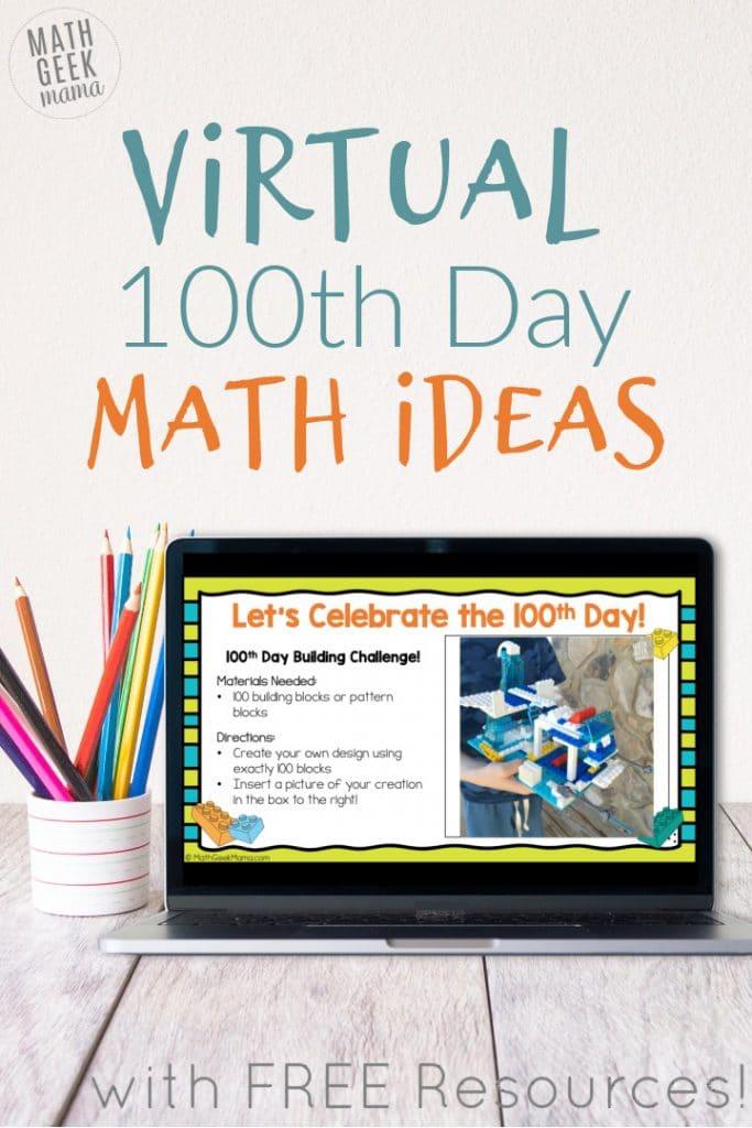 100 School Days Math Activities. #100thdayofschool #100thdayprintables #100thdaymathworksheets #freehomeschooldeals #fhdhomeschoolers