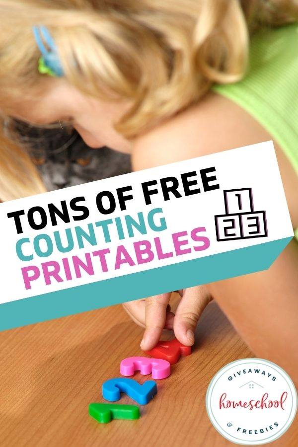 Free Preschool Counting Printables. #preschoolmathprintables #preschoolmathworksheets #freepreschoolworksheets #freehomeschooldeals #fhdhomeschoolers