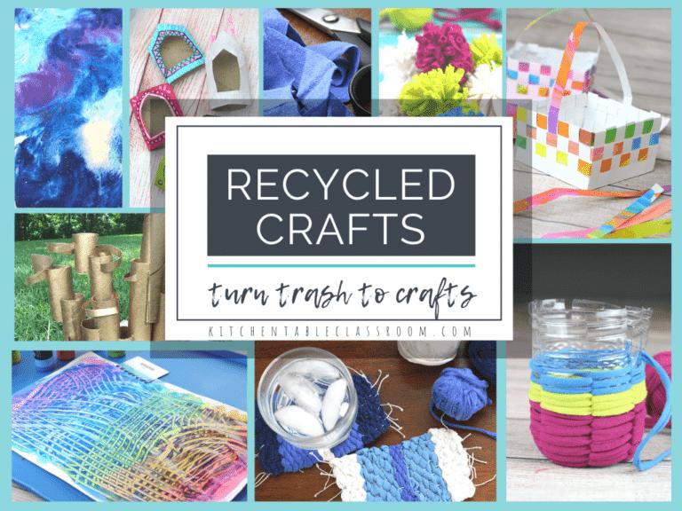 Upcycled Kids Craft Ideas. #recycledcraftideas #upcycledcrafts #craftsforkids #freehomeschooldeals #fhdhomeschoolers