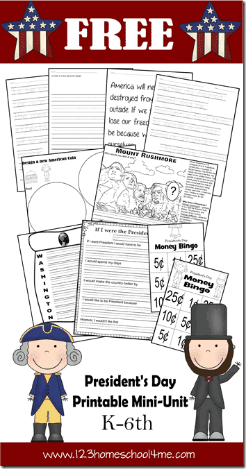 President's Day Short Unit Study. #presidentsdayprintables #presidentsdayworksheets #presidentsdayforkids #freehomeschooldeals #fhdhomeschoolers