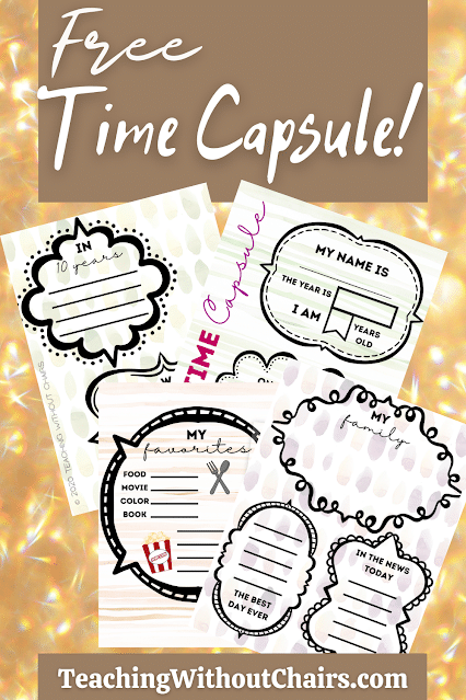 Free Time Capsule Printables. #timecapsuleactivity #historyprojectforkids #timecapsuleforkids #freehomeschooldeals #fhdhomeschoolers