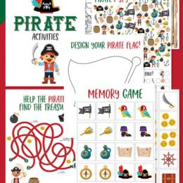 Free Pirate Preschool Activities. #pirateactivitiesforkids #preschoolpirateworksheets #pirategamesforkids #freehomeschooldeals #fhdhomeschoolers