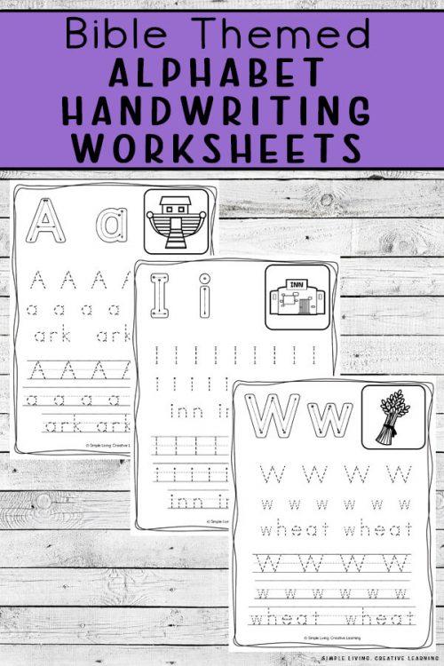 Bible ABC Handwriting Worksheets Free Homeschool Deals ©