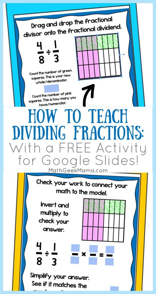 FREE Digital Dividing Fractions Activity. #freehomeschooldeals #fhdhomeschoolers #dividingfractions #fractionsactivity #fractionsdigitalactivity
