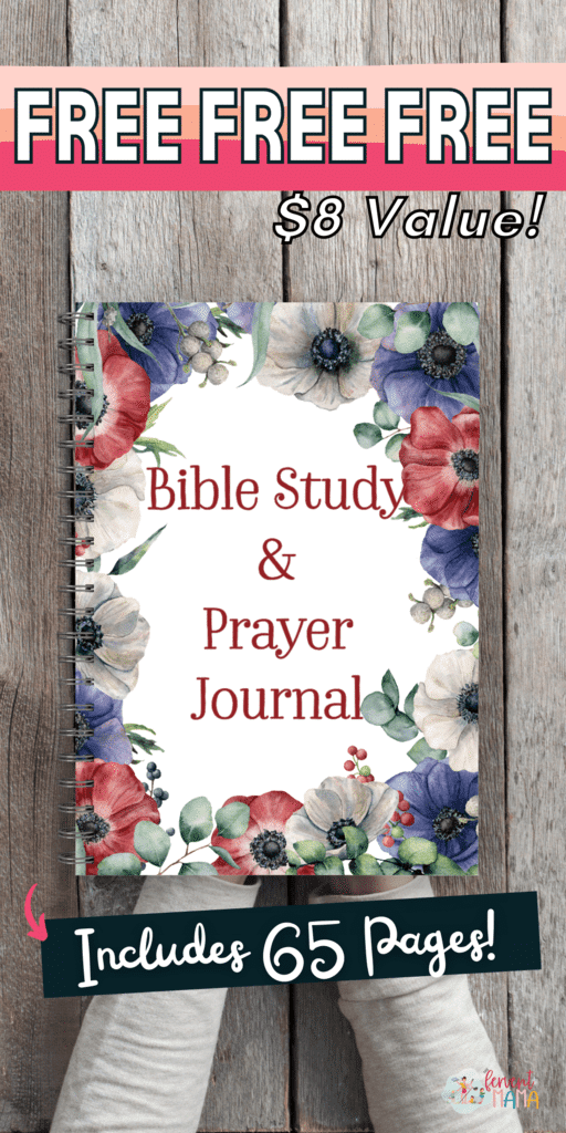 FREE Bible and Prayer Journal. #freehomeschooldeals #fhdhomeschoolers #biblereadingjournal #prayingjournal ##monthlybiblereading
