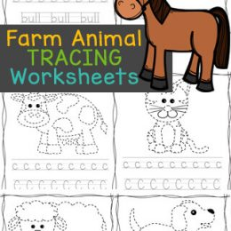 ABC Farm Animal Tracing Worksheets. #freehomeschooldeals #fhdhomeschoolers #farmanimalworksheets #alphabettracingworksheets