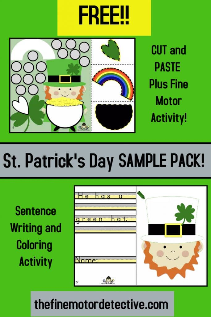 FREE St. Patrick's Day Activities. #freehomeschooldeals #fhdhomeschoolers #stpatricksdayprintables #stpatricksdayworksheets #stpatricksdayactivities