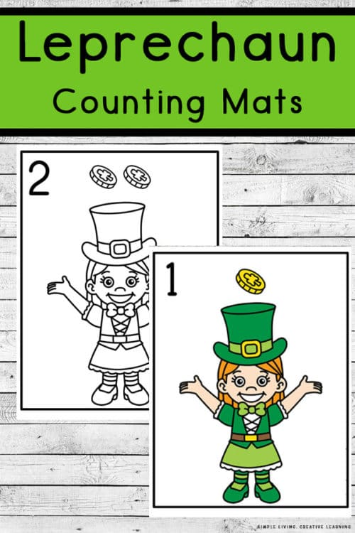 FREE Leprechaun Counting Mats. #freehomeschooldeals #fhdhomeschoolers #leprechauncountingmats #countingmats #leprechaunresources #leprechaunprintables