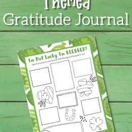 St. Patrickʻs Day Kids Journal. #fhdhomeschoolers #freehomeschooldeals #gratitudejournal #stpatricksdayjournal