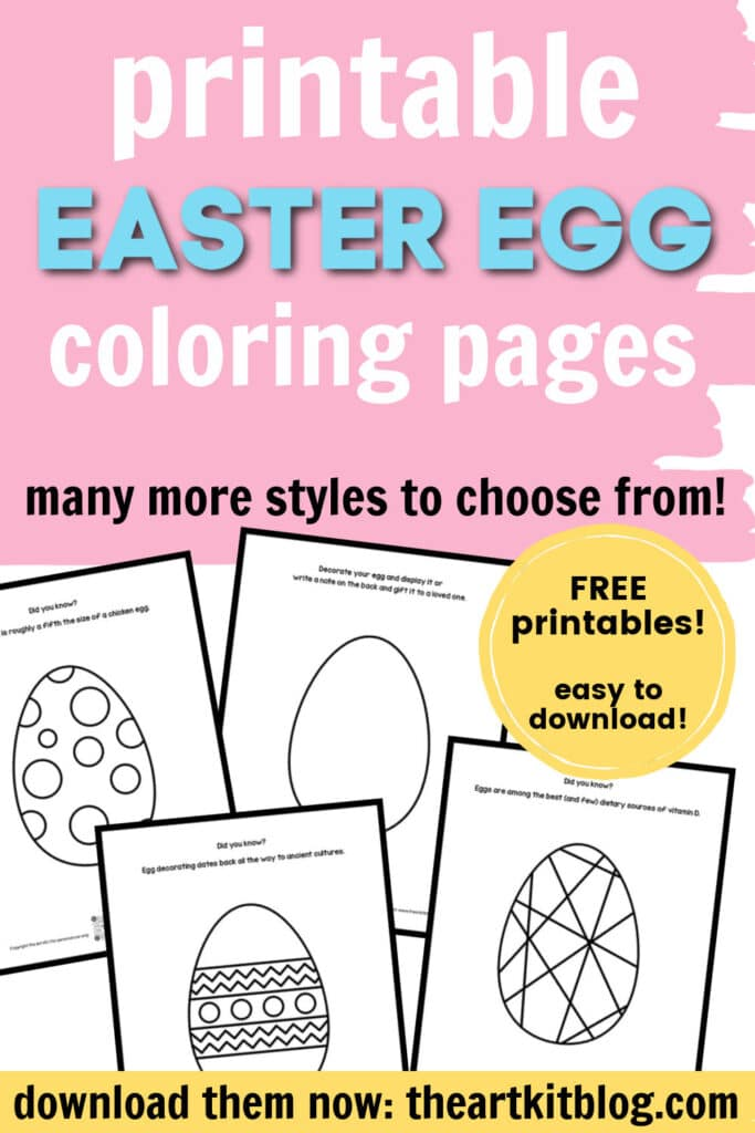 Free Easter Egg Coloring Pages. #freehomeschooldeals #fhdhomeschoolers #eastereggprintables #coloringpages #eastercoloringpages