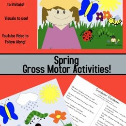Spring Gross Motor Activity. #freehomeschooldeals #fhdhomeschoolers #springgrossmotoractivity #grossmotoractivity #springactivity