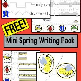 FREE Spring Mini Writing Pack. #fhdhomeschoolers #freehomeschooldeals #springminipack #springwritingpack #writingpack