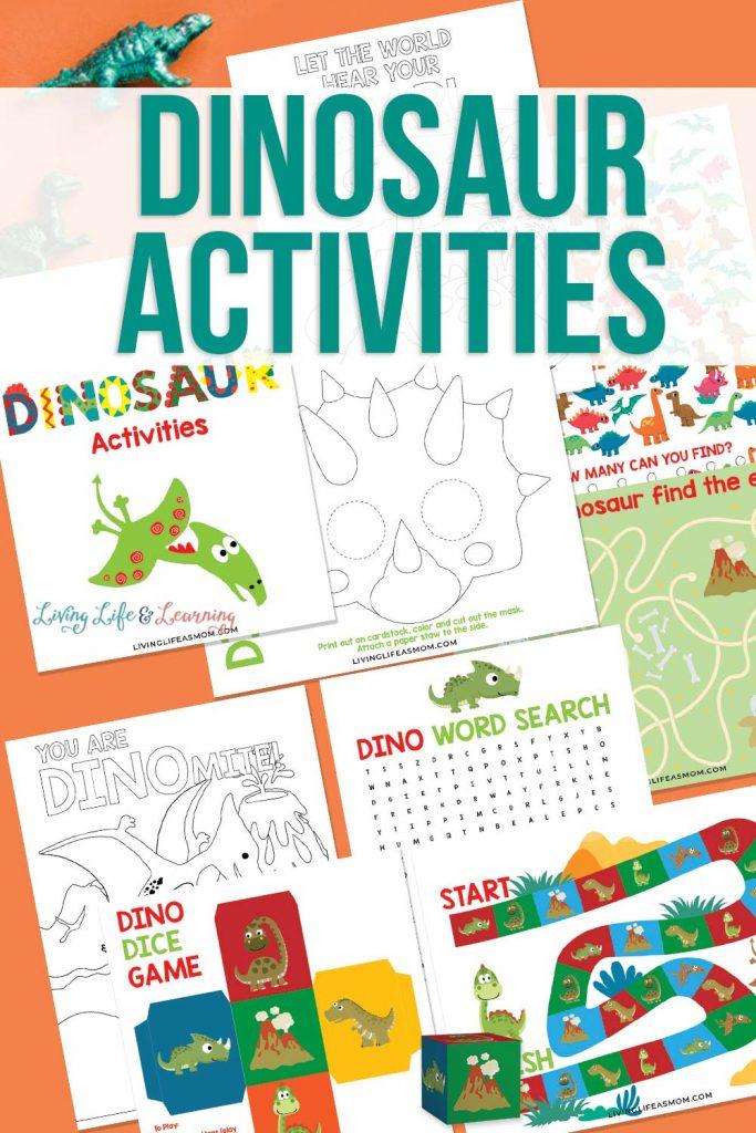 Free Printable Dinosaur Activities. #freehomeschooldeals #fhdhomeschoolers #dinosaurprintables #dinosauractivities #dinosaurresourcesforkids