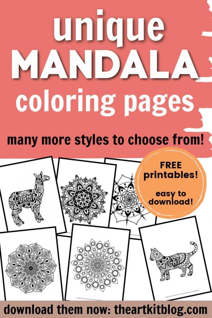 Free Mandala Coloring Pages. #freehomeschooldeals #fhdhomeschoolers #mandalacoloringpages #coloringpages #mandalaprintables