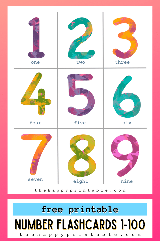 Free Printable Number Flashcards Free Homeschool Deals C