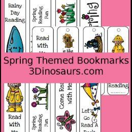 FREE Printable Spring Bookmarks. #freehomeschooldeals #fhdhomeschoolers #springbookmarks #bookmarksforspring #bookmarkprintables #springprintable