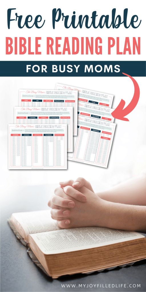 FREE Busy Mom Bible Reading Plan. #freehomeschooldeals #fhdhomeschoolers #mombiblereadingplan #busymombibleplan #biblereadingplan