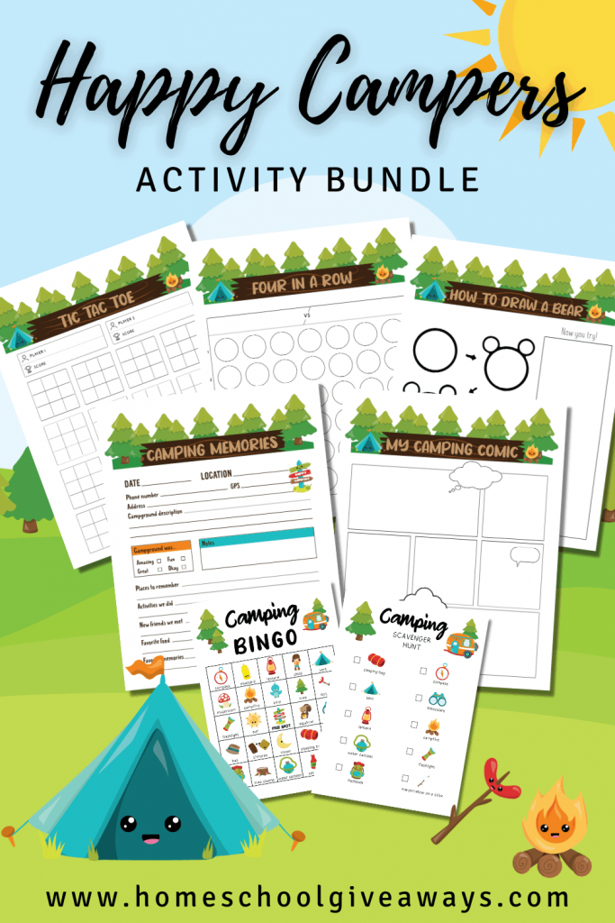 Learning Activities About Camping. #freehomeschooldeals #fhdhomeschoolers #campingforkids #freecampingactivities #campingprintables