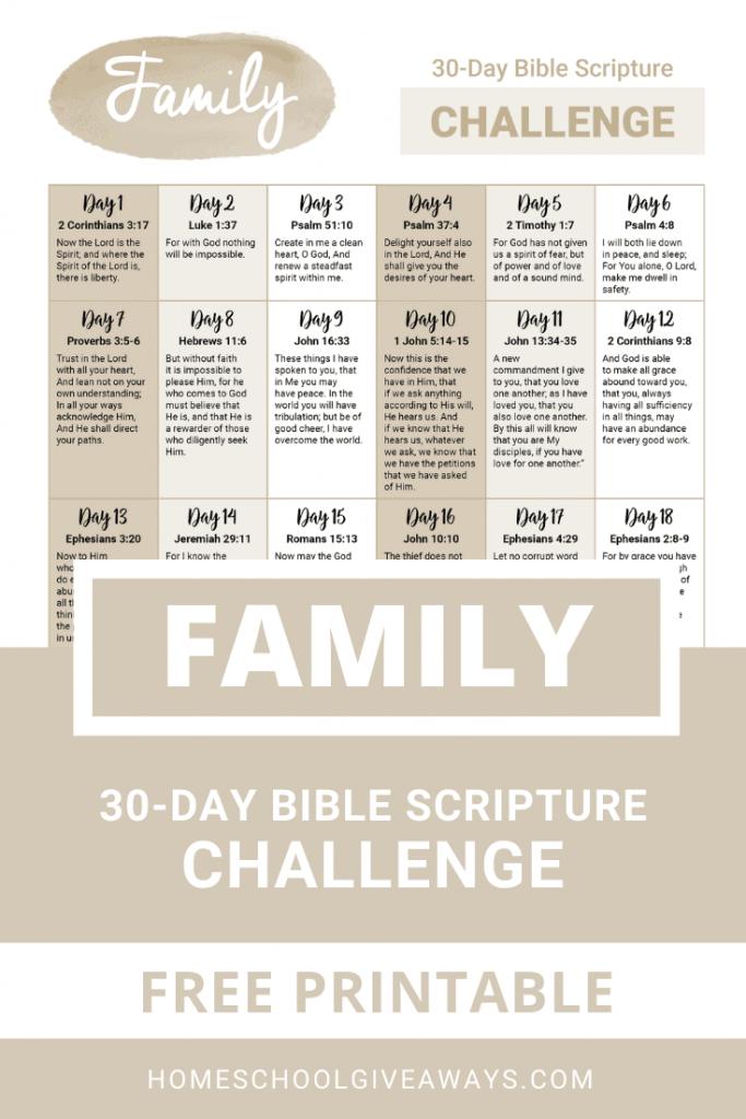FREE 30-Day Family Prayer Challenge. #freehomeschooldeals #fhdhomeschoolers #familyprayerchallenge #prayerchallenge #prayingforfamily