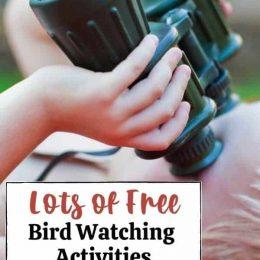 Free Activities for Birdwatching. #freehomeschooldeals #fhdhomeschoolers #birdwatchingprintables #birdwatchingforkids #studyingbirds