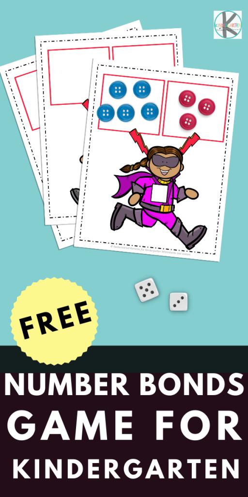 Super Hero Number Bond Worksheet and Game. #freehomeschooldeals #fhdhomeschoolers #superheornumberbondresource #numberbondworksheet #numberbondgame #superheromath