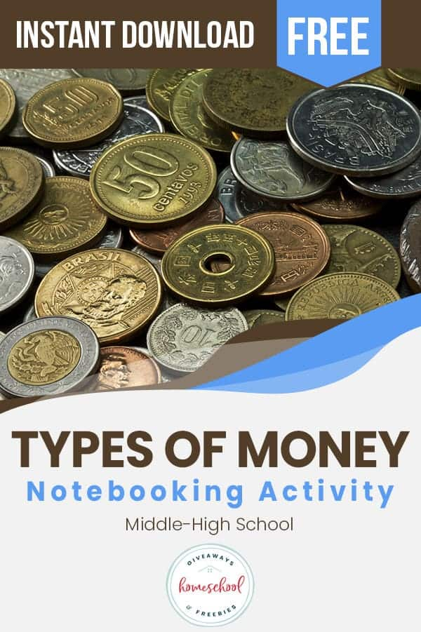 Types of Currency FREE Notebooking. #freehomeschooldeals #fhdhomeschoolers #typesofcurrency #moneyaroundtheworld #worldmoneynotebooking