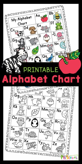 FREE Printable Alphabet Chart. #freehomeschooldeals #fhdhomeschoolers #alphabetcharts #alphabetcardprintables #alphabetprintables