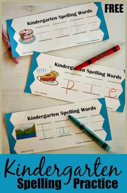 FREE Spelling Practice for Kindergarten. #freehomeschooldeals #fhdhomeschoolers #kindergartenspelling #kindergartenspellingpractice #spellingpractice
