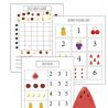 Fruit Themed Free Preschool Math Worksheets. #freehomeschooldeals #fhdhomeschoolers #preschoolmath #preschoolworksheets #preschoolgraphing