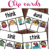 """ending blend """"nk"""" clip cards with colorful fun kids images with text overlay"""