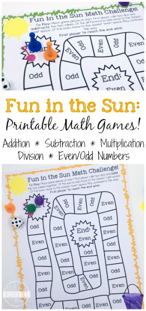 math board game with game pieces and text overlay