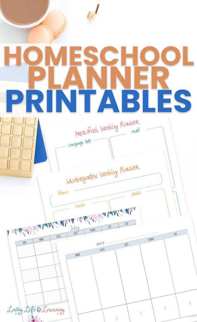 Pretty Homeschool Planning Pages. #freehomeschooldeals #fhdhomeschoolers #freeplanningpages #freehomeschoolplanner #freeprintableplanner