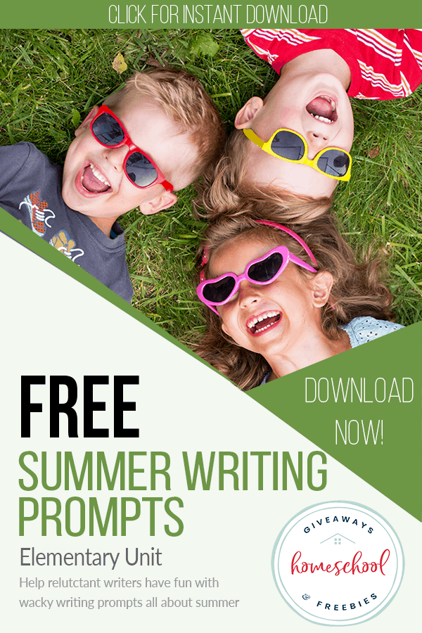 Summer Fun Creative Writing Pages. #freehomeschooldeals #fhdhomeschoolers #summerwritingprompts #creativewritingprompts #freecreativewritingpages