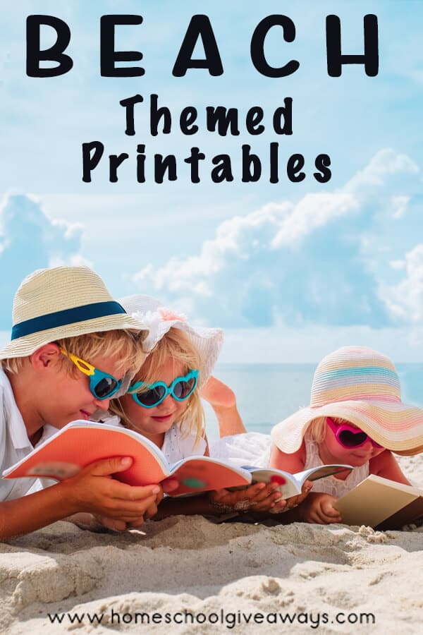 Beach-Themed Worksheets and Activities. #freehomeschooldeals #fhdhomeschoolers #freesummerworksheets #summerlearningactivities #freebeachworksheets