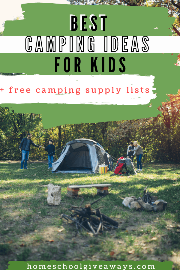 Free Camping Printables for Kids. #freehomeschooldeals #fhdhomeschoolers #freecampingprintables #freecampingactivities #campingpagesforkids