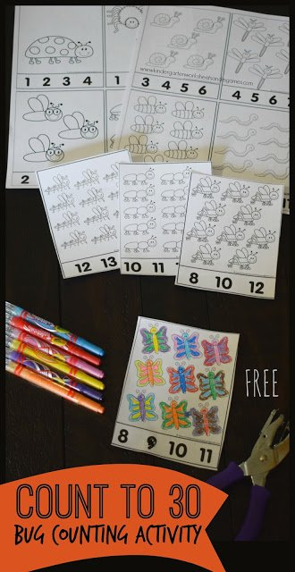 Bug Counting Activity Sheets. #freehomeschooldeals #fhdhomeschoolers #learningtocount #preschoolcountingworksheets #bugworksheets