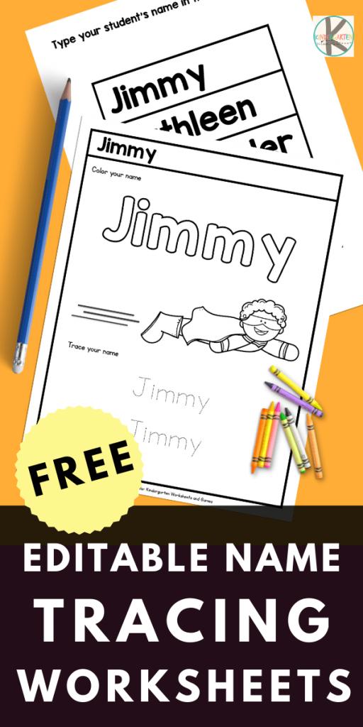 Editable Name Practice Worksheets. #freehomeschooldeals #fhdhomeschoolers #nametracingworksheets #preschoolnamewritingactivity #freenameworksheets