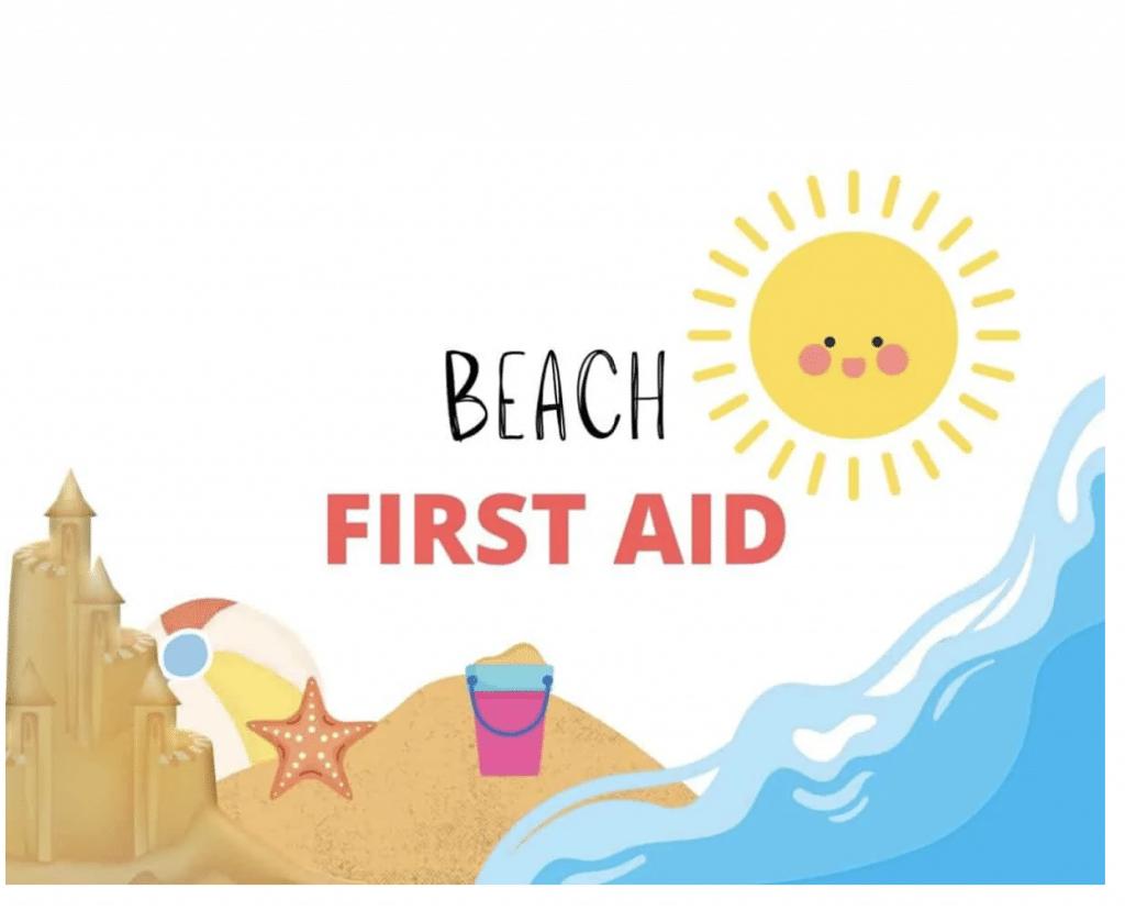 Free Beach First Aid Checklist. #freehomeschooldeals #fhdhomeschoolers #beachfirstaid #beachfirstaidchecklist #beachchecklist