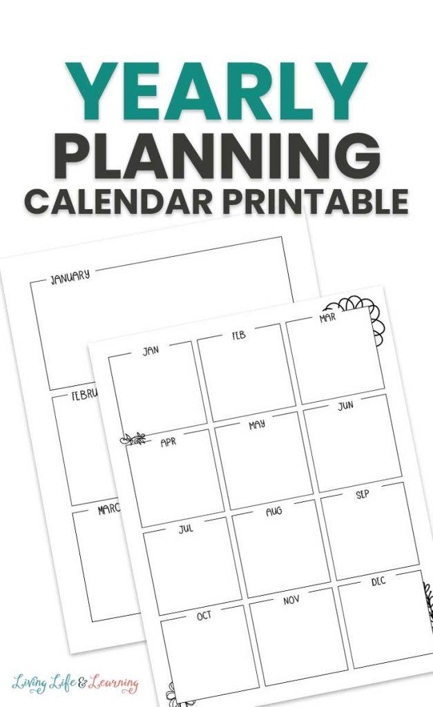Homeschool Year Planning Calendar, calendar images with text overlay. #freehomeschooldeals #fhdhomeschoolers #freehomeschoolplanner #homeschoolyearplanner #freetwelvemonthplanner