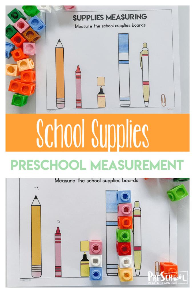 Preschool Measurement Learning Activity. #freehomeschooldeals #fhdhomeschoolers #learningaboutmeasurement #measurementactivity #measurementworksheet