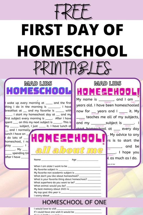 12 First Day of Homeschool Fun Activities with Free Printables. #freehomeschooldeals #fdhhomeschoolers #firstdayofhomeschool #firstdayofschool #firstdayprintables