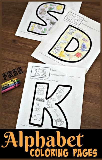 Free Alphabet Coloring Pages. #freehomeschooldeals #fhdhomeschoolers #learningthealphabet #alphabetcoloringpages #abccoloringpages