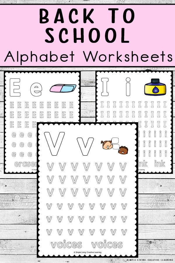 Preschool Alphabet Tracing Worksheets. #freehomeschooldeals #fhdhomeschoolers #alphabetworksheets #learningthealphabet #preschoolworksheets