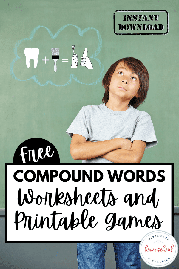 Compound Word Learning Activity. #freehomeschooldeals #fhdhomeschoolers #learningaboutcompoundwords #compoundwordsworksheets #compoundwordspractice